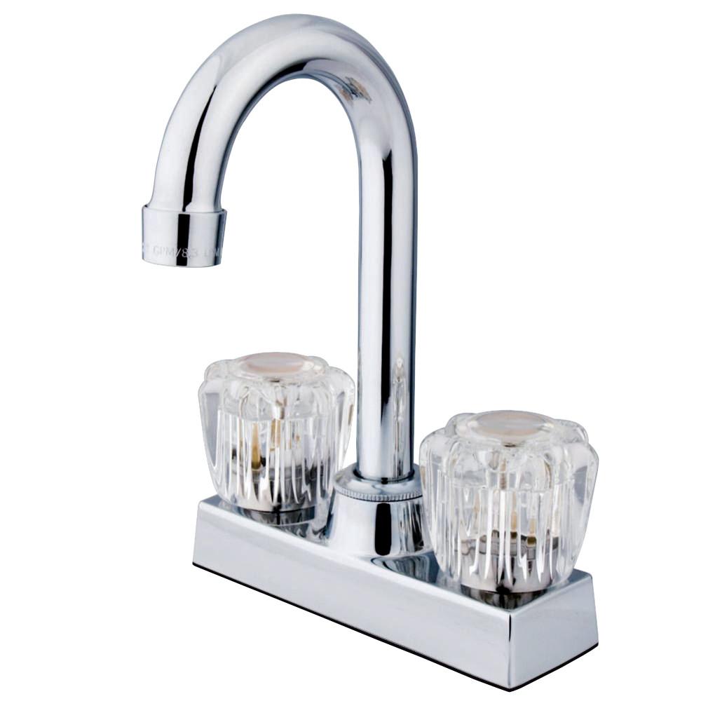"Kingston Brass KB461 Vista 4"" Bar Faucet, Polished Chrome"