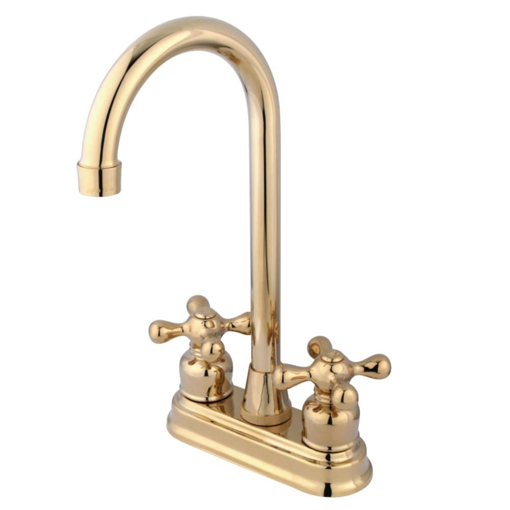 Kingston Brass KB492AX Bar Faucet, Polished Brass