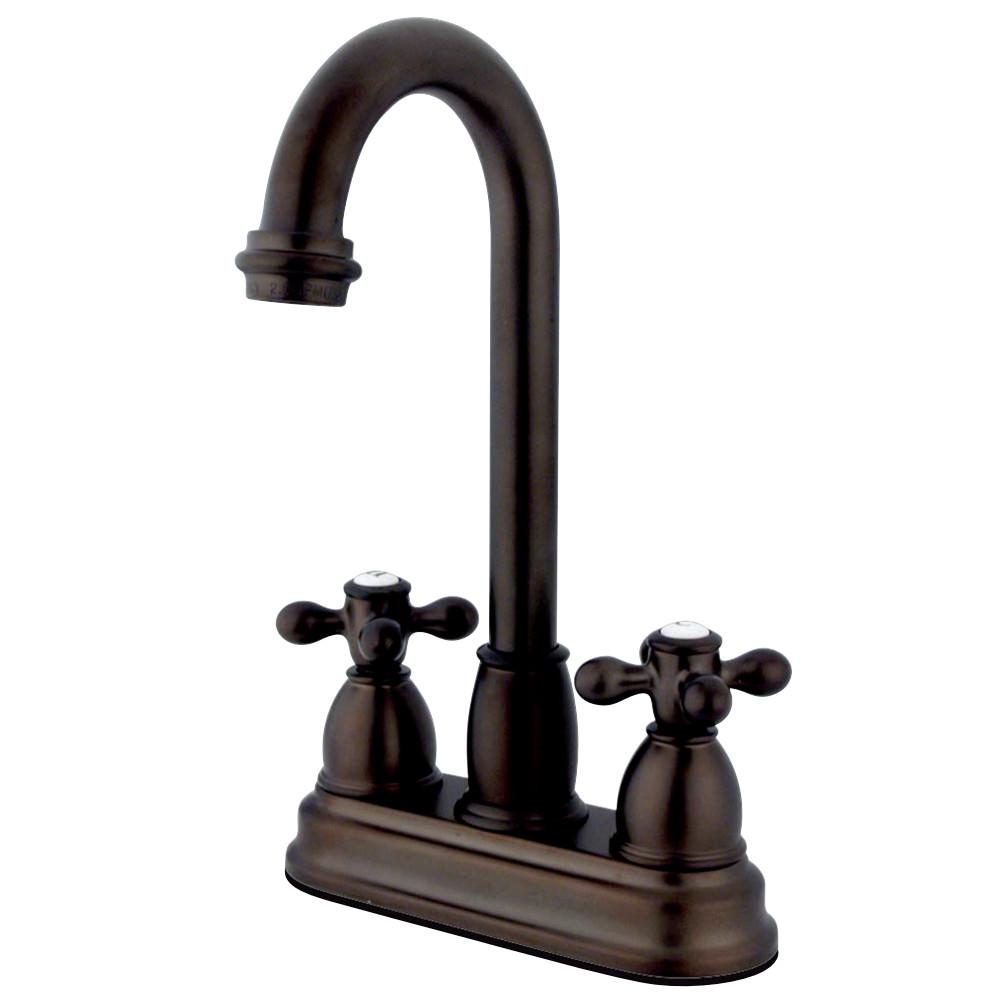 "Kingston Brass KB3495AX Restoration 4"" Centerset Bar Faucet, Oil Rubbed Bronze"