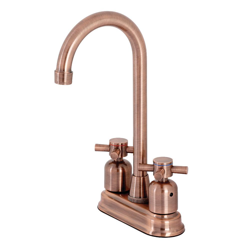 Kingston Brass KB849DXAC Concord Bar Faucet, Antique Copper