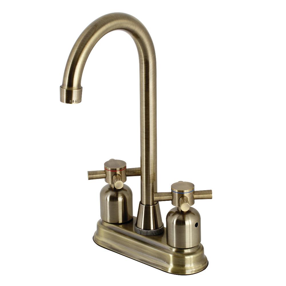 Kingston Brass KB8493DX Concord Bar Faucet, Antique Brass