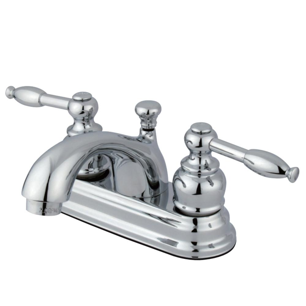 Kingston Brass FB2601KL 4 in. Centerset Bathroom Faucet, Polished Chrome