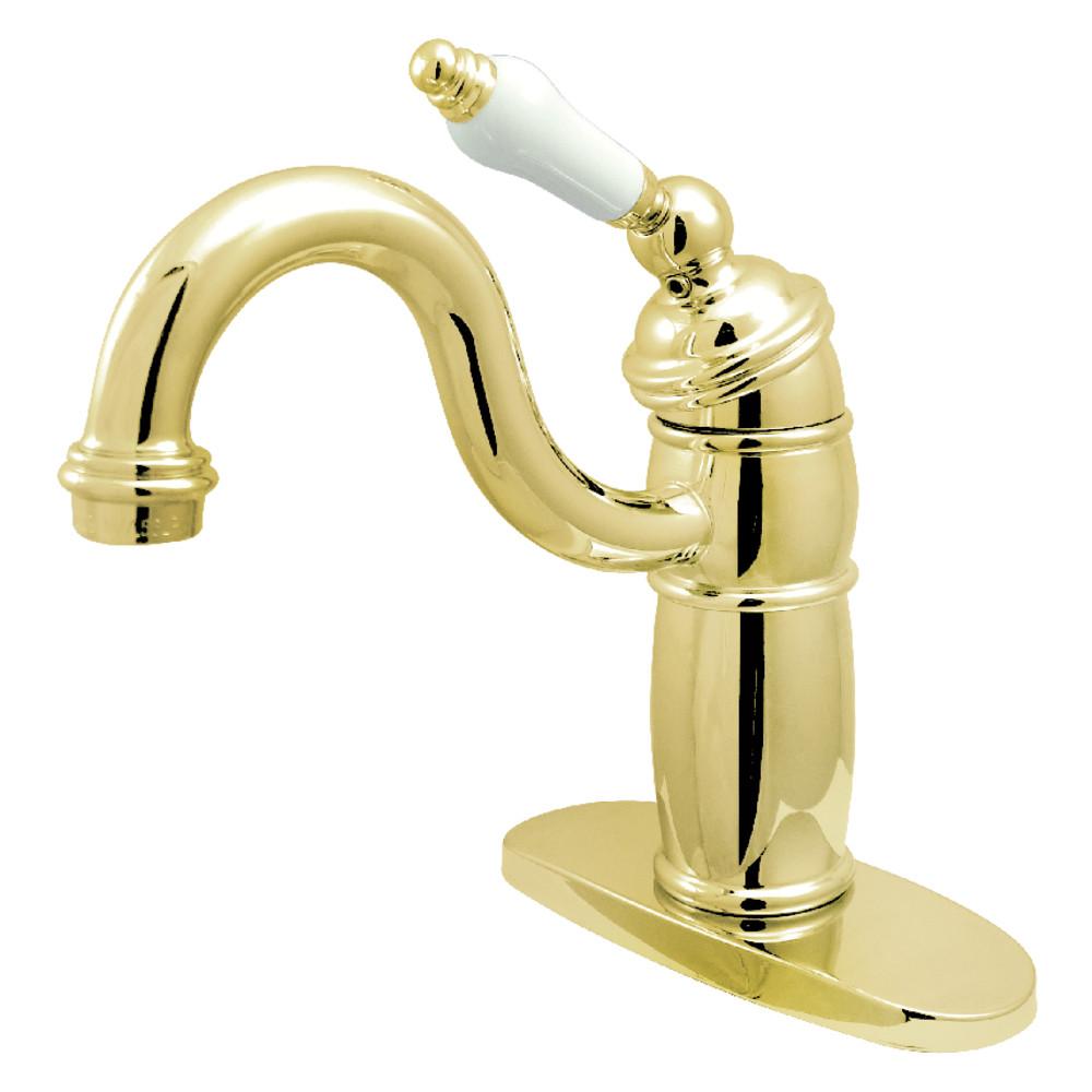 Kingston Brass KB1482PL Victorian Single-Handle Monoblock Bar Faucet, Polished Brass