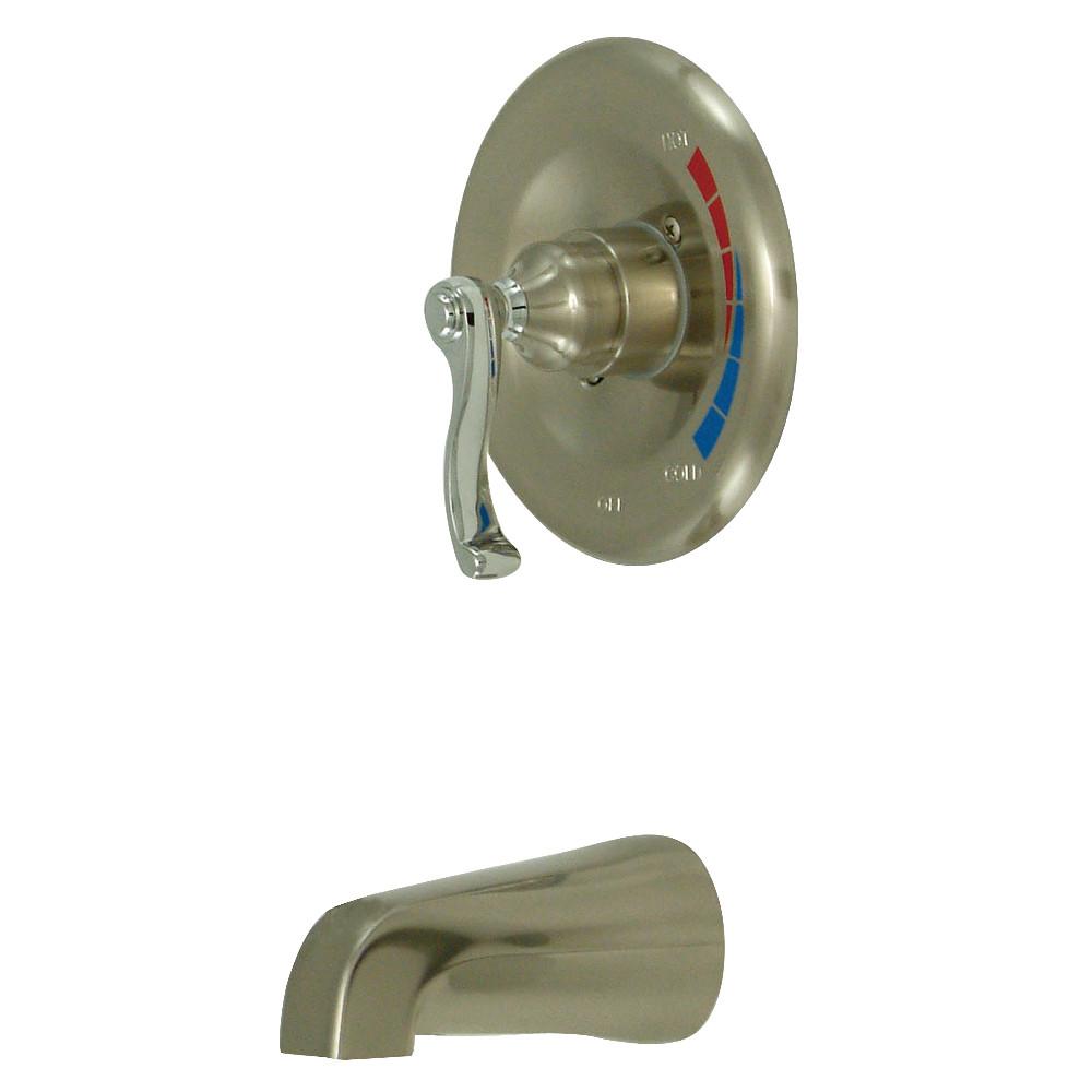 Kingston Brass KB8637FLTO Tub Only, Brushed Nickel/Polished Chrome