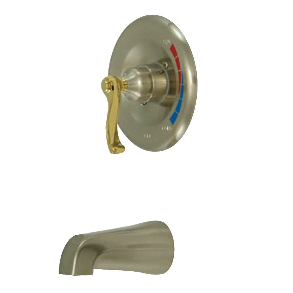 Kingston Brass KB8639FLTO Tub Only, Brushed Nickel/Polished Brass