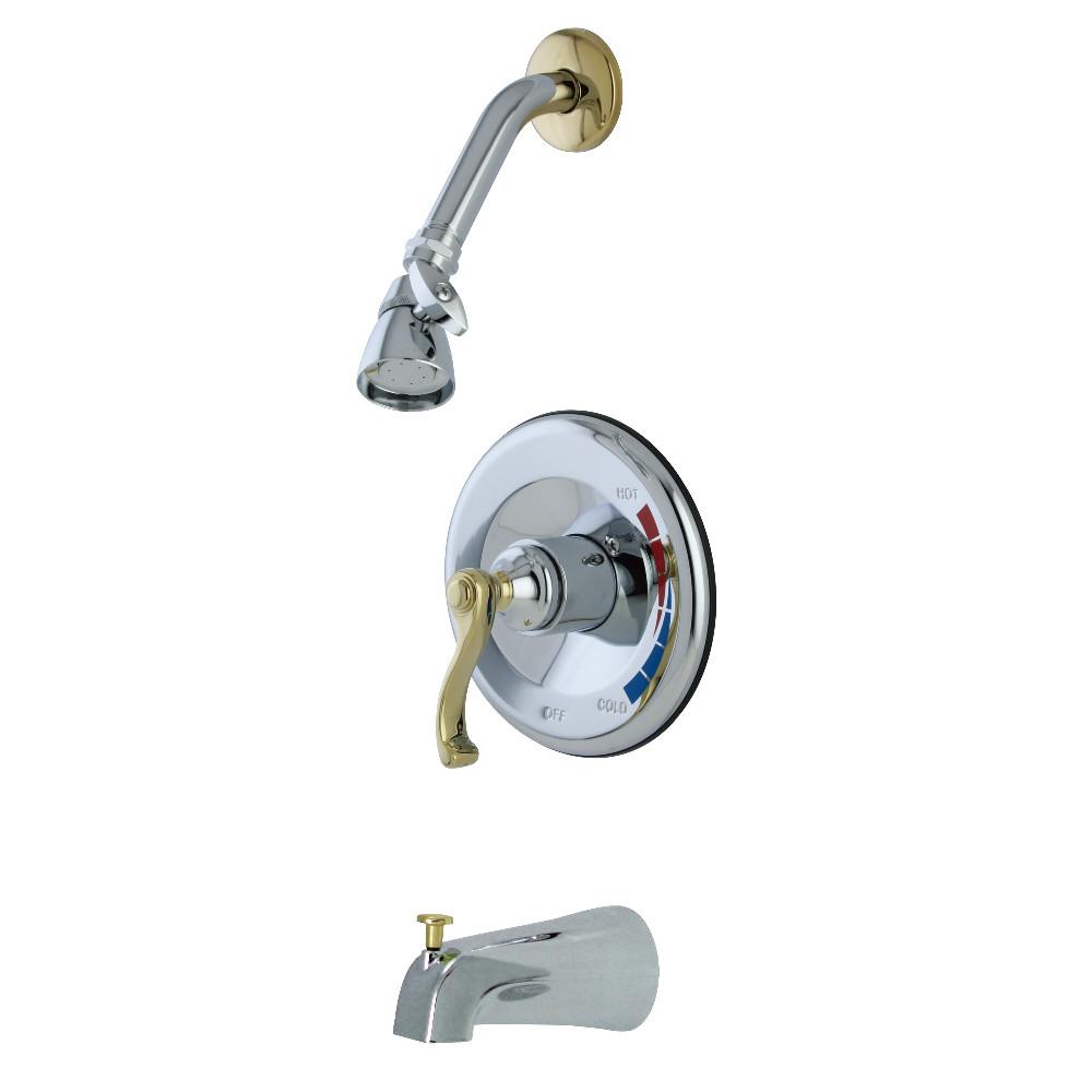 Kingston Brass KB8634FLT Tub and Shower Trim Only for KB8634FL, Polished Chrome/Polished Brass