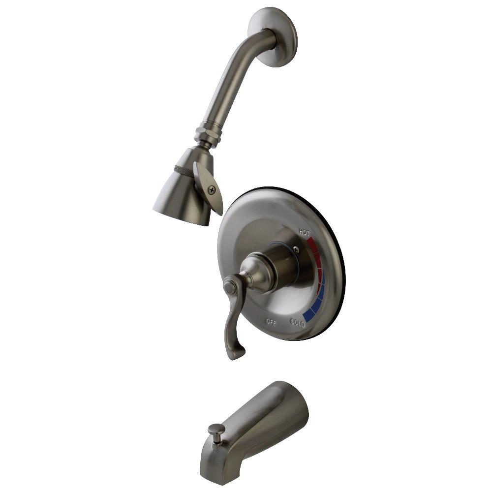 Kingston Brass KB8638FLT Tub and Shower Trim Only for KB8638FL, Brushed Nickel