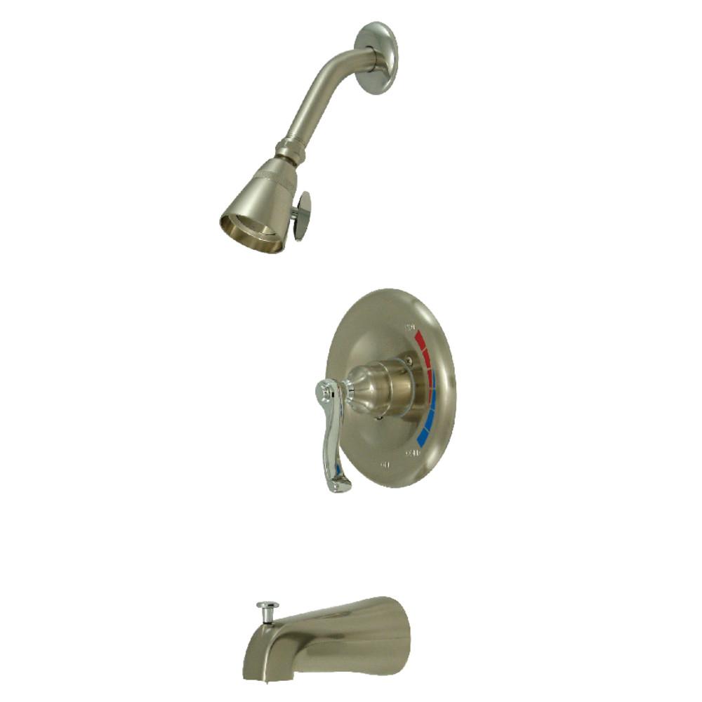 Kingston Brass KB8637FLT Tub and Shower Trim Only for KB8637FL, Brushed Nickel/Polished Chrome