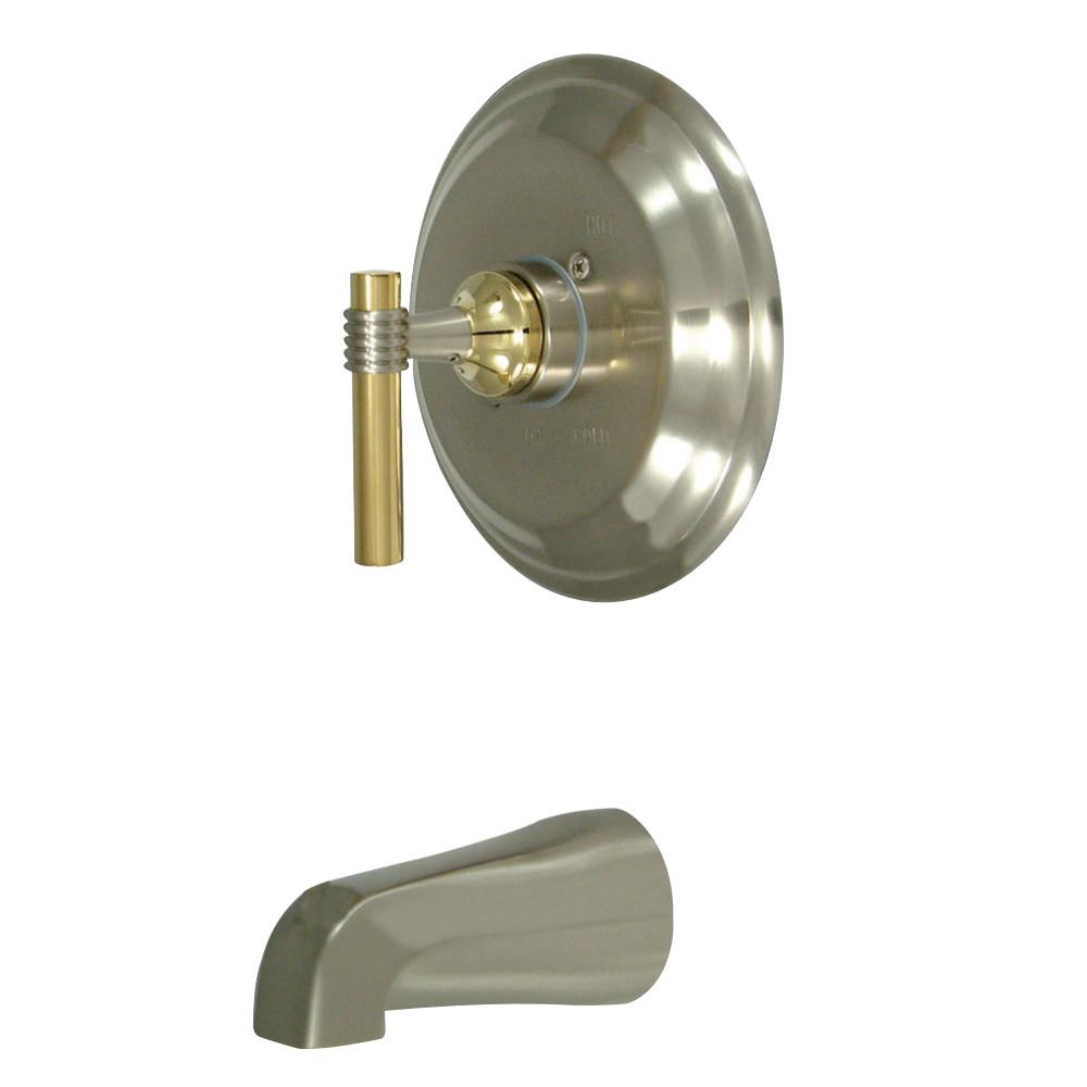 Kingston Brass KB2639MLTO Milano Tub Only, Brushed Nickel/Polished Brass