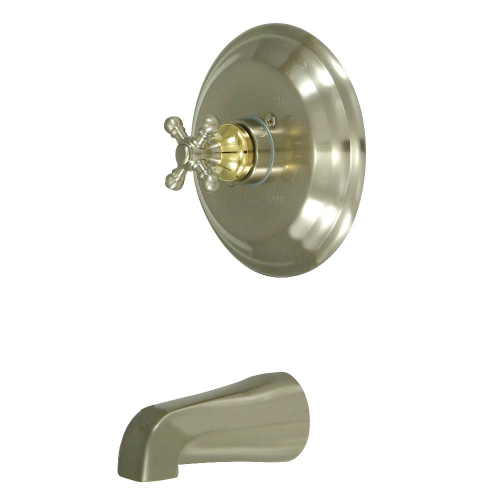 Kingston Brass KB2639BXTO Tub Only, Brushed Nickel/Polished Brass