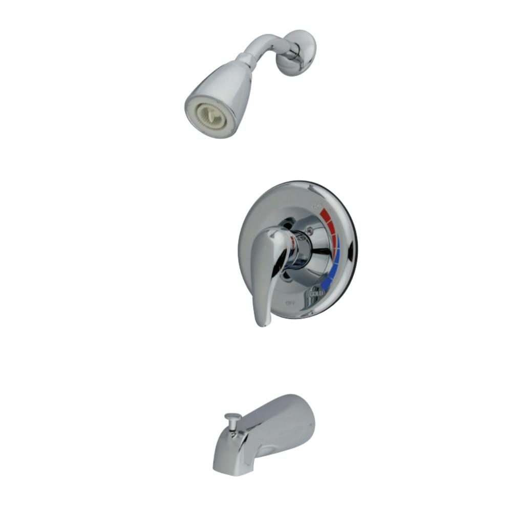 Kingston Brass KB651 Chatham Single Lever Handle Tub & Shower Faucet, Polished Chrome