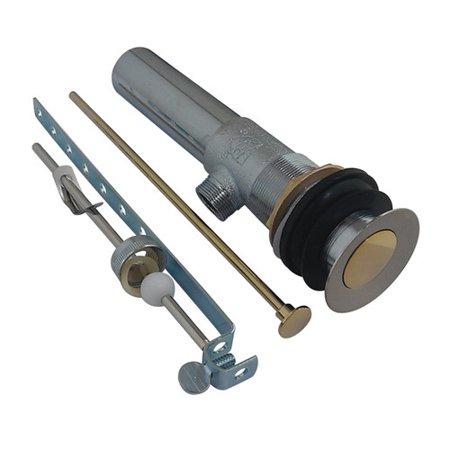 Kingston Brass KB1009 Brass Pop-Up Drain with Overflow Hole, 22 Gauge, Brushed Nickel/Polished Brass