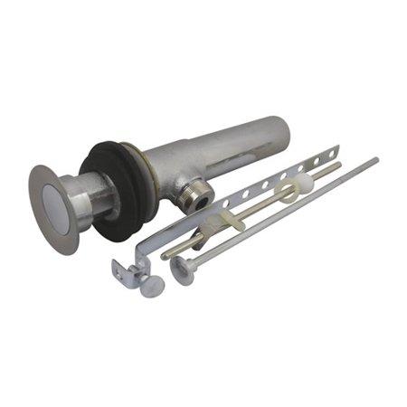Kingston Brass KB1007 Brass Pop-Up Drain with Overflow Hole, 22 Gauge, Brushed Nickel/Polished Chrome