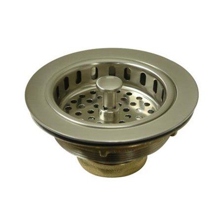 Kingston Brass KBS1008 Heavy Duty Kitchen Sink Waste Basket, Brushed Nickel