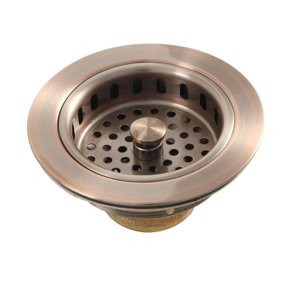 Kingston Brass KBS1006AC Kitchen Sink Basket Strainer, Antique Copper