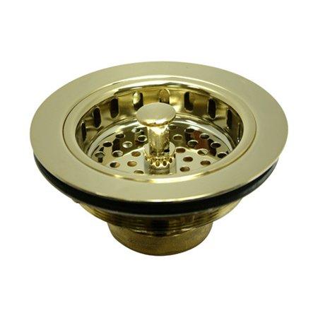 Kingston Brass KBS1002 Heavy Duty Kitchen Sink Waste Basket, Polished Brass
