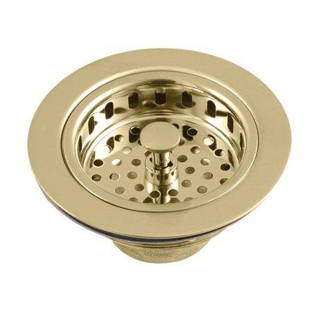 Kingston Brass KBS1007 Heavy Duty Kitchen Sink Waste Basket, Brushed Brass