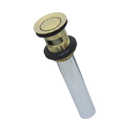 Kingston Brass KB8102 Push Pop-Up Drain with Overflow, 22 Gauge, Polished Brass