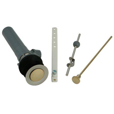 Kingston Brass KBP1009 Plastic Pop-Up Drain with Overflow, Brushed Nickel/Polished Brass