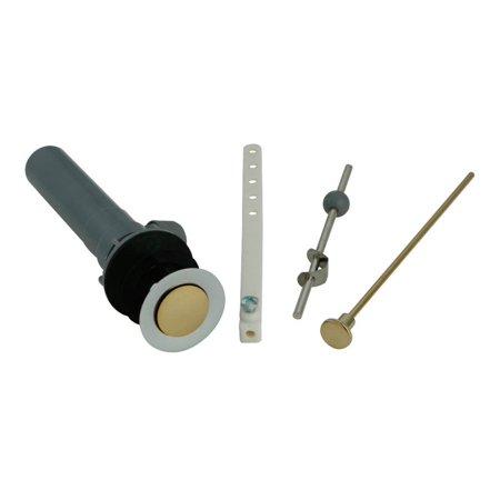 Kingston Brass KBP1004 Plastic Pop-Up Drain with Overflow, Polished Chrome/Polished Brass