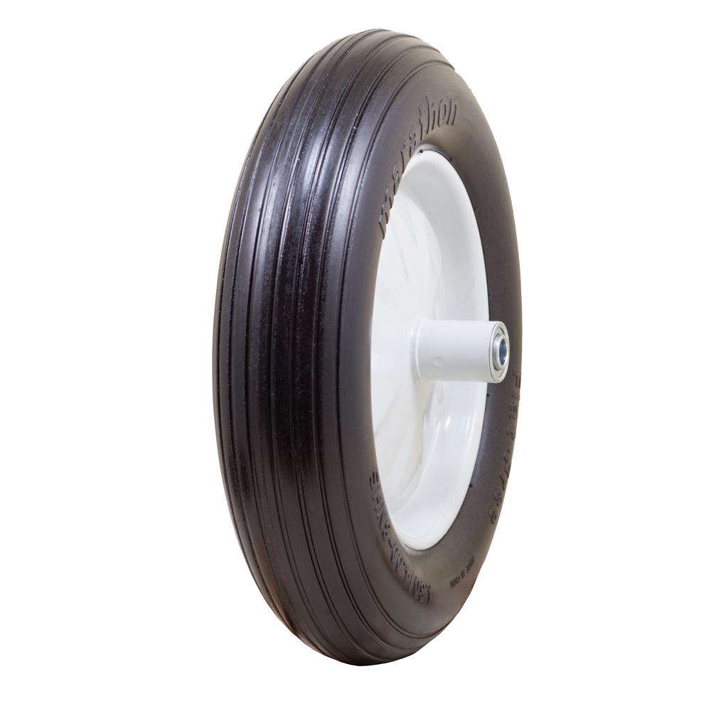 """Flat Free Wheelbarrow Tire with Ribbed Tread, 4.80/4.00-8"""""""