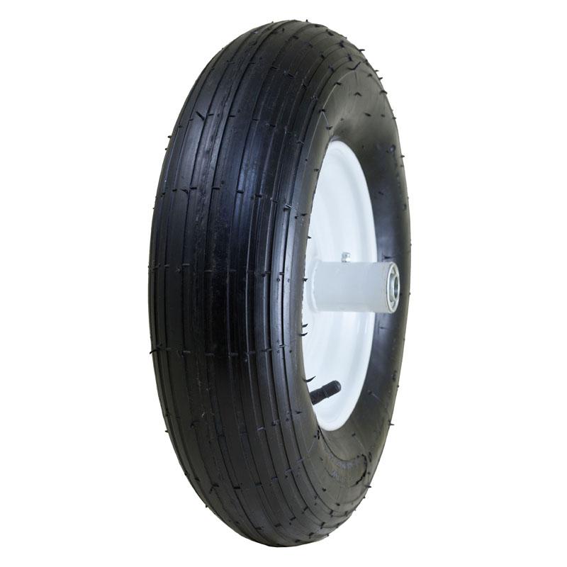 "Air Filled Wheelbarrow Tire with Ribbed Tread, 4.80/4.00-8"""