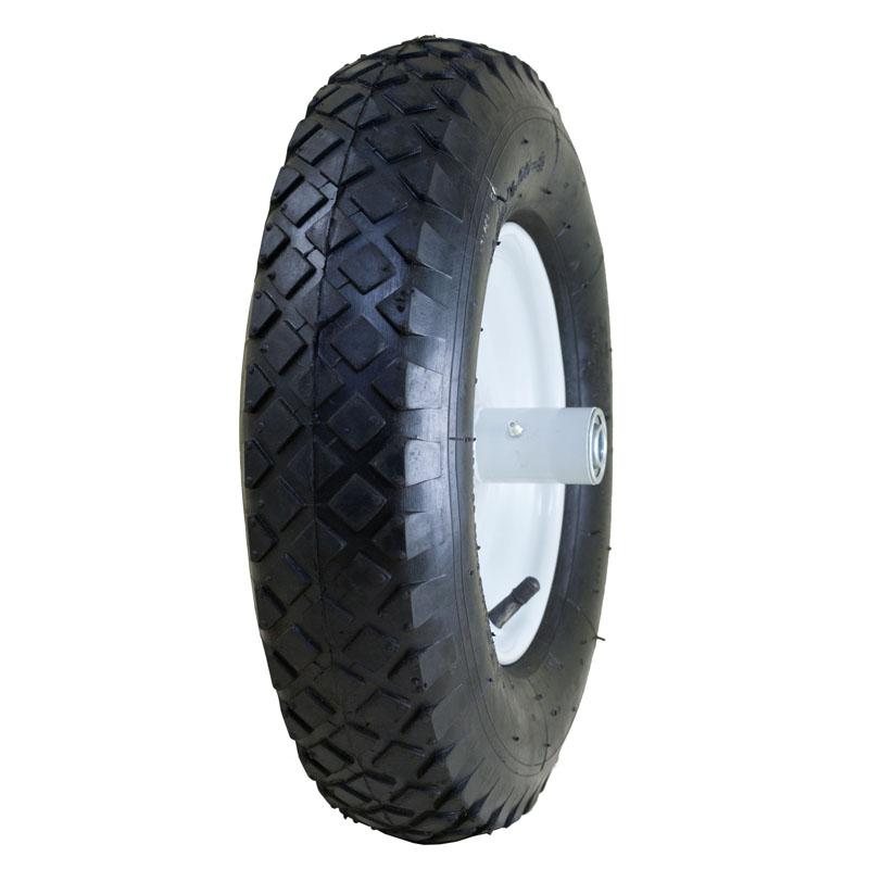 """Air Filled Wheelbarrow Tire with Knobby Tread, 4.80/4.00-8"""""""