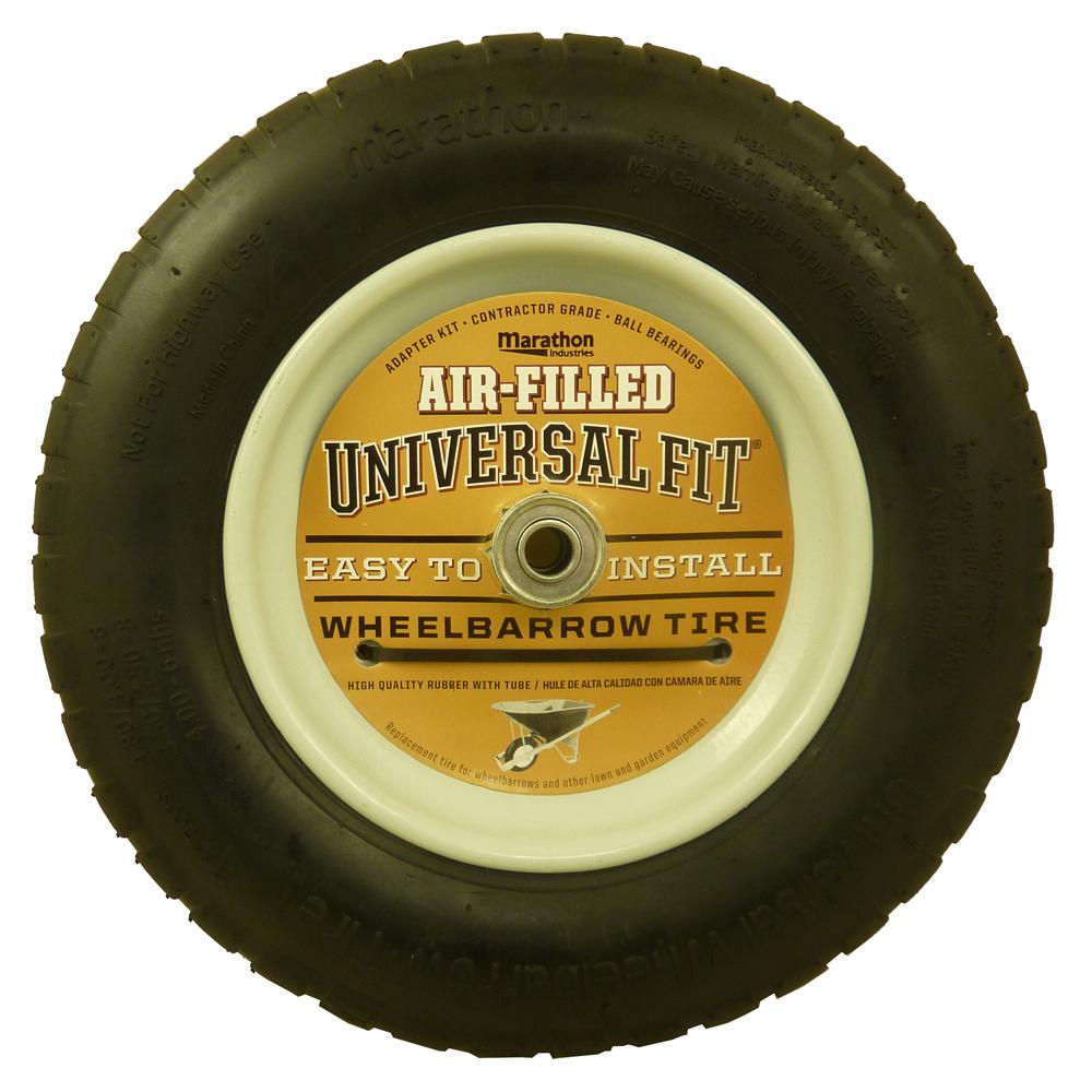 Air Filled Wheelbarrow Tire, Universal Fit