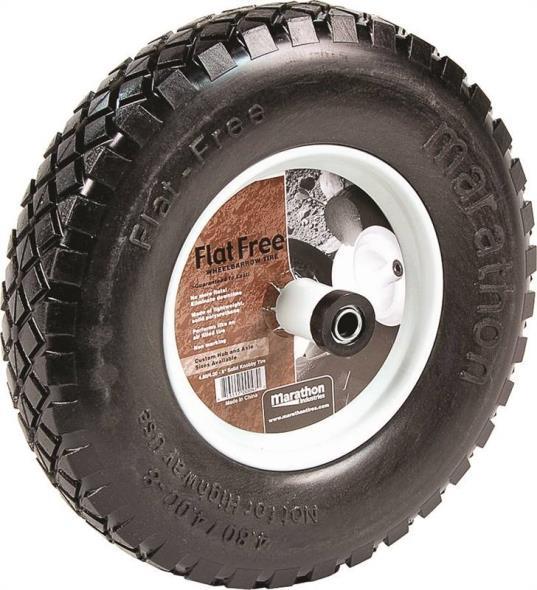 """Flat Free Wheelbarrow Tire with Knobby Tread, 4.80/4.00-8"""""""