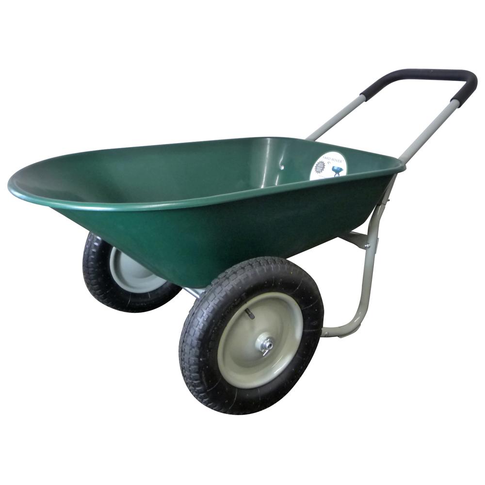 Wheelbarrow - Green, Dual Wheel