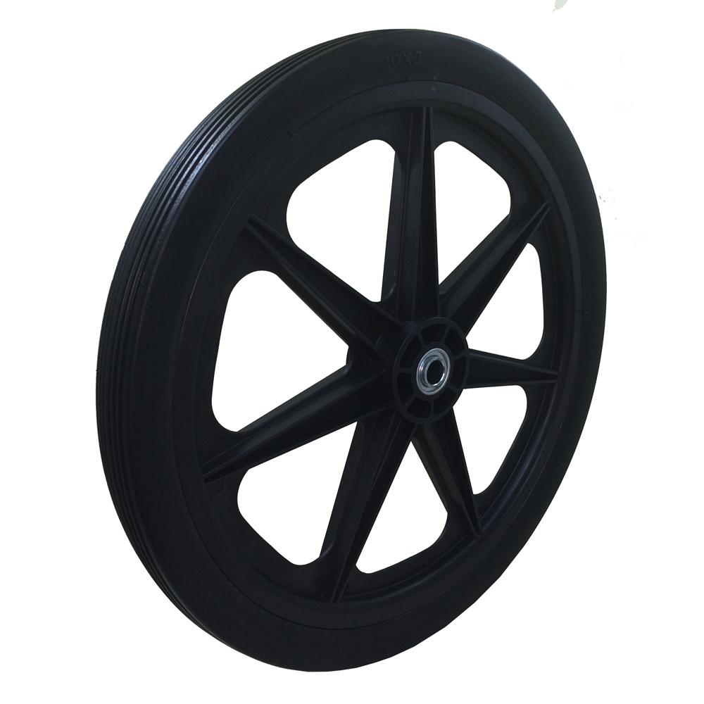 "Flat Free Cart Tire for Lawn, Garden, Marina, 20x2.0"""