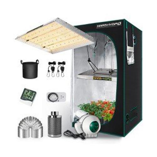 TSW 2000 LED Grow Light + 4'x4' Indoor Tent Kits Combo Carbon Filter