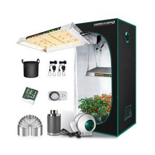 Mars Hydro TS 600 LED Grow Light + 2'x2' Indoor Tent Kits Combo Carbon Filter
