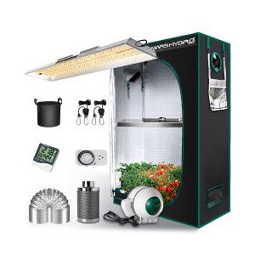 TSL 2000 LED Grow Light + 2'x4' Indoor Tent Kits Combo Carbon Filter