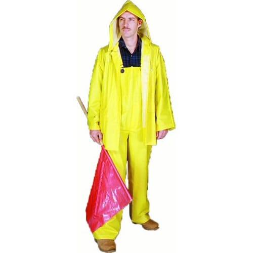 PVC/Polyester 3 Piece Rainsuit, 0.35 mm, Large