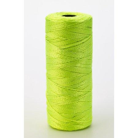 Nylon Mason Twine, 1/2 lb. Twisted, 18 x 550 ft., Glo Lime (Pack of 6)