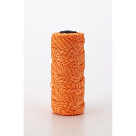 Nylon Mason Twine, 1 lb. Twisted, 18 x 1090 ft., Glo Orange (Pack of 4)