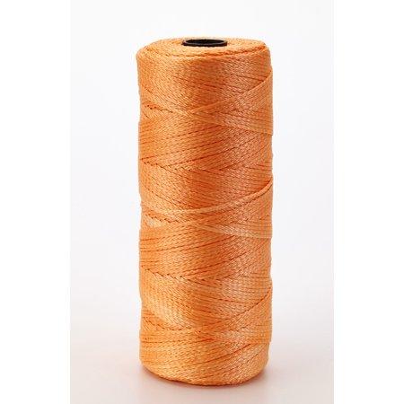 Nylon Mason Twine, 1/2 lb. Twisted, 18 x 550 ft., Glo Orange (Pack of 6)