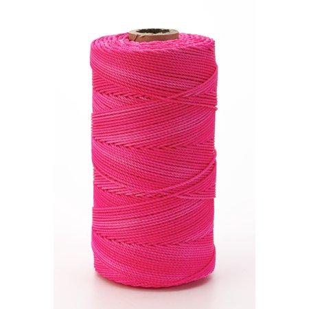 Nylon Mason Twine, 1 lb. Twisted, 18 x 1090 ft., Glo Pink (Pack of 4)