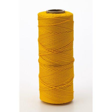 Nylon Mason Twine, 1/2 lb. Braided, 18 x 500 ft., Glo Yellow