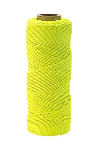 Nylon Mason Twine, 1lb. Braided, 18 x 1000 ft., Glo Lime