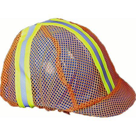 Mesh Safety Vest Reflective Hard Hat Cover, Orange Pack of 12