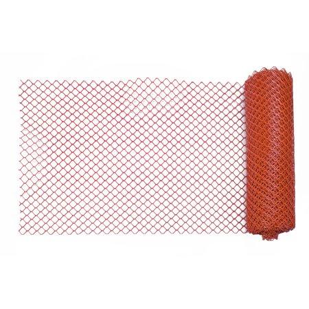 Heavy-Duty Diamond Link Fence, 4' x 100', Orange