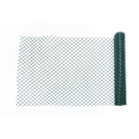 High Density Polyethylene (HDPE) Diamond Link Safety Fence, 50 ft. Length x 4 ft. Width, Green