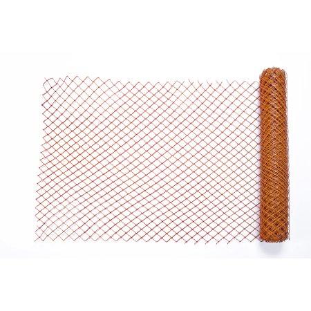 High Density Polyethylene (HDPE) Diamond Link Safety Fence, 50 ft. Length x 4 ft. Width, Orange