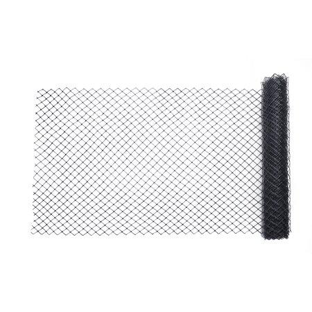 High Density Polyethylene (HDPE) Diamond Link Safety Fence, 50 ft. Length x 4 ft. Width, Black