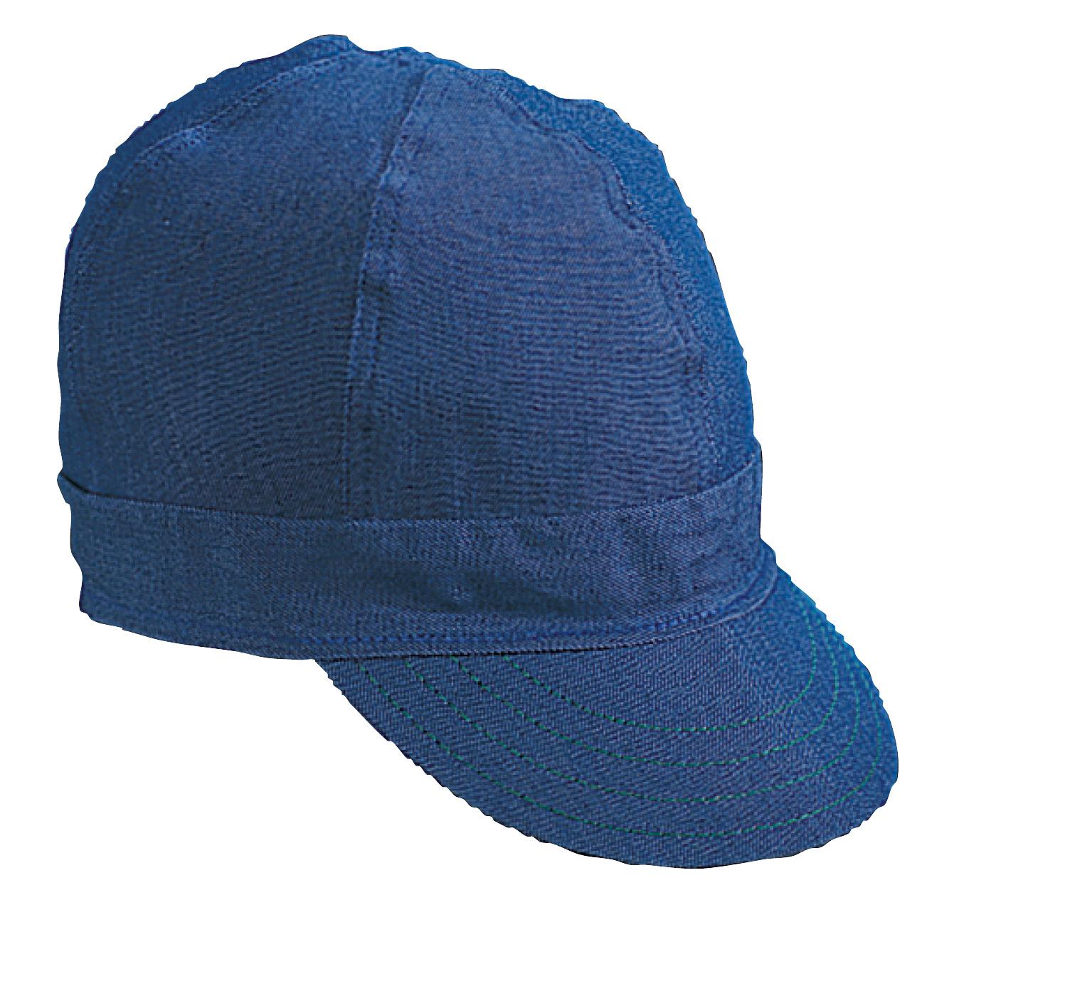 "Kromer Blue Denim Style Welder Cap, Cotton, Length 5"", Width 6"""