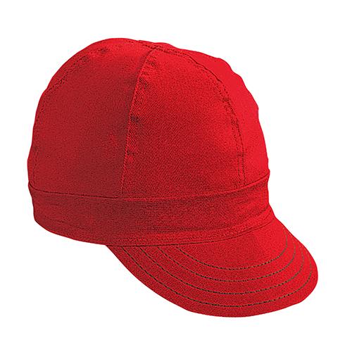 "Kromer Red Twill Style Welder Cap 8, Cotton, Length 5"", Width 6"""