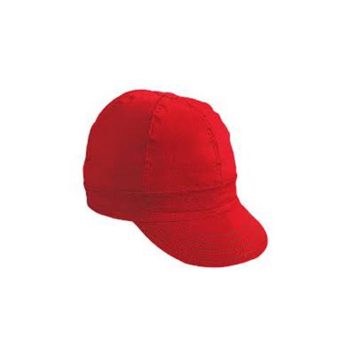 "Kromer Red Twill Style Welder Cap 7 5/ 8, Cotton, Length 5"", Width 6"""