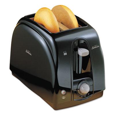 Extra Wide Slot Toaster, 2-Slice, 7 x 11 1/2 x 7.8, Black
